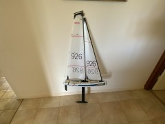 DF65 - stand and 2 sail rigs and sail box